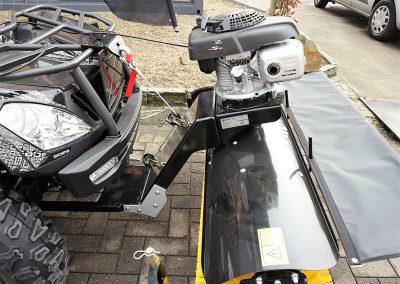 Anbaukehrmaschine für ATV Quad mit Honda – Motor (5)