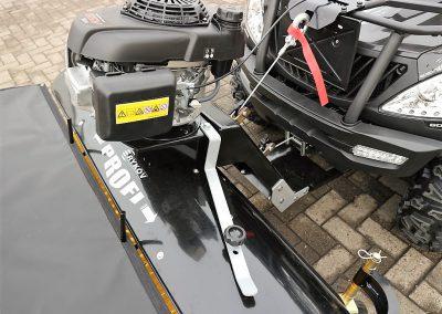 Anbaukehrmaschine für ATV Quad mit Honda – Motor (7)