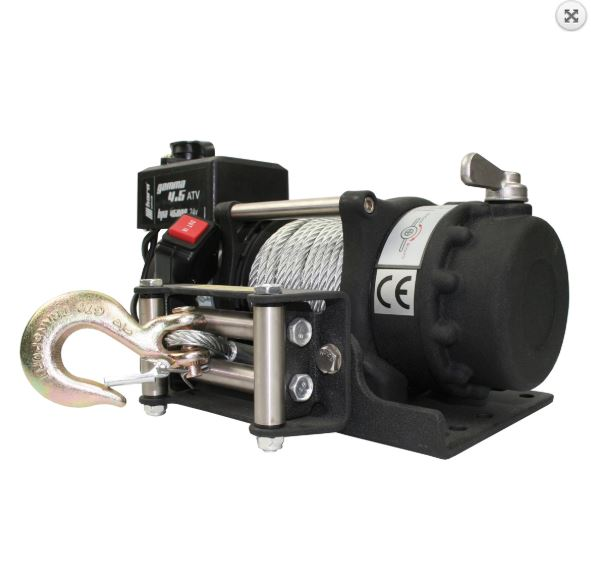 HORN Quad / ATV Seilwinde Gamma 4.5 mit Stahlseil 12V 2 to
