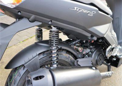 Roller Mofa Scooter Kymco Super 8 50i 4T Mattschwarz (7)