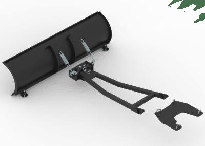 Schneeschild 1.500 mm für ATV Quad, incl. Adapterplatte und Schubgestell (1)