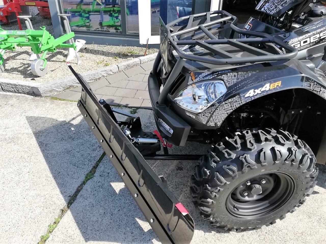 Schneeschild 1.500 mm für ATV / Quad, incl. Adapterplatte und Schubgestell