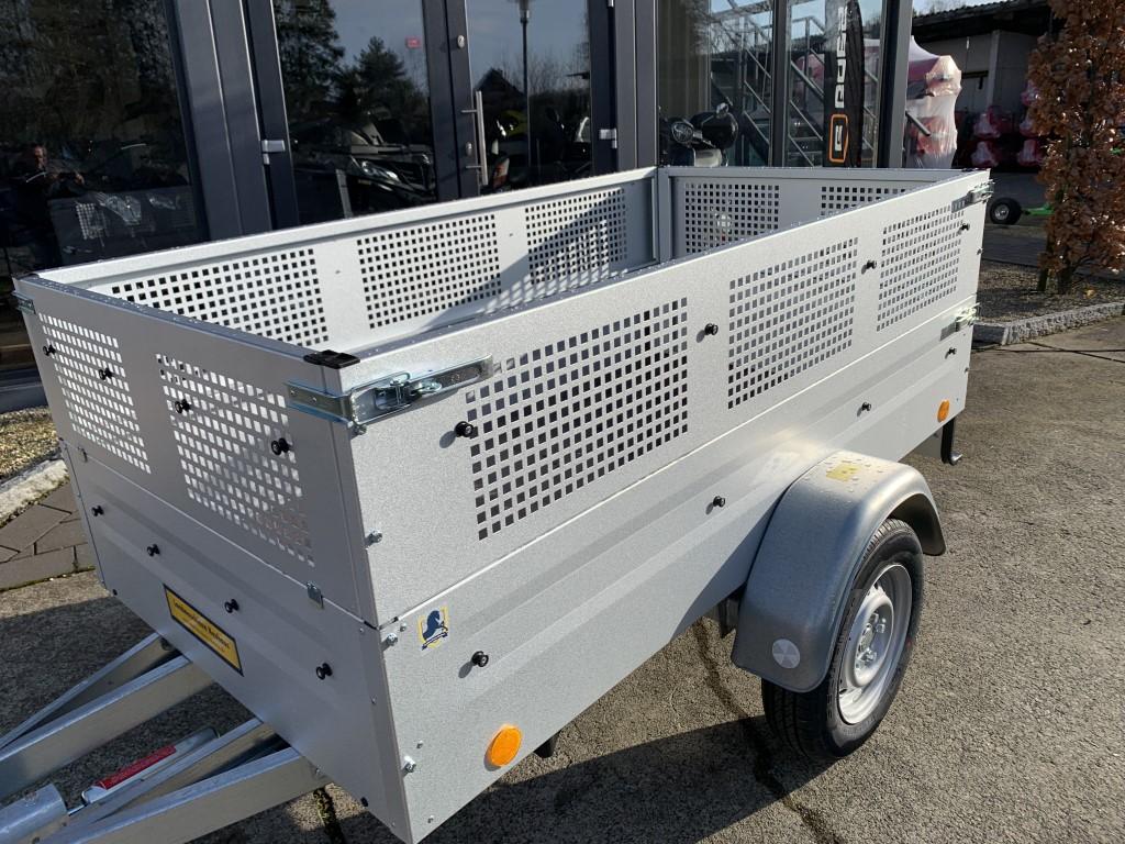 gebremster Anhänger, ideal hinter dem Quad, 2435×1235, Gitteraufsatz, Straßenzulassung