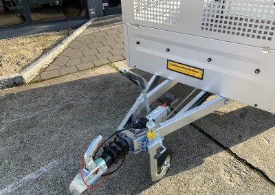 gebremster Anhänger ideal hinter dem Quad, 2435×1235 Gitteraufsatz Straßenzulassung (8)