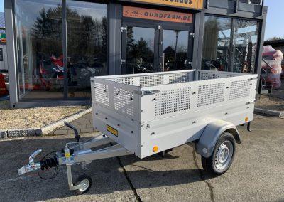 gebremster Anhänger ideal hinter dem Quad, 2435×1235 Gitteraufsatz Straßenzulassung (9)
