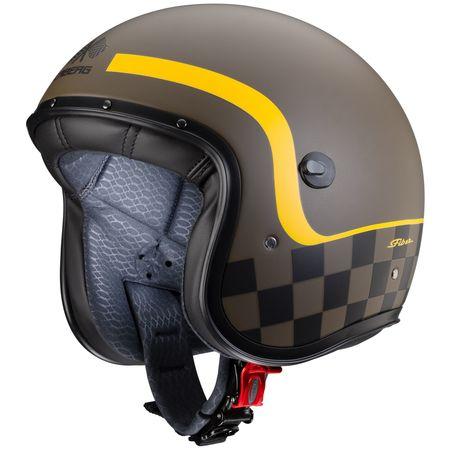 Caberg Helm Freeride Formula matt-braun/mustard-gelb