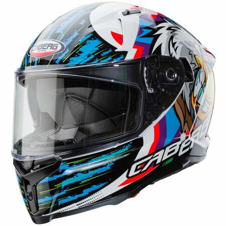 Caberg Helm Avalon Hawk weiß/schwarz-blau